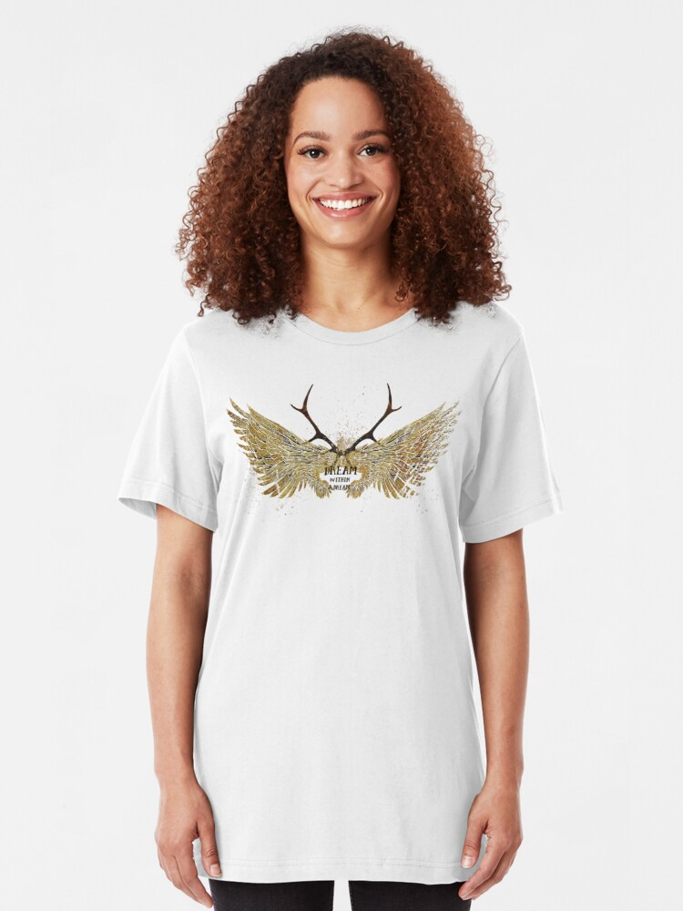 Alternate view of Dream within a Dream Slim Fit T-Shirt