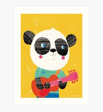 Animal Band - Panda Guitarist Art Print