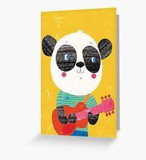 Animal Band - Panda Guitarist Greeting Card