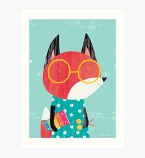 Animal Band - Xylophone Fox Art Print