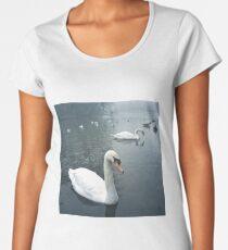 Swans in Tooting Common Women's Premium T-Shirt