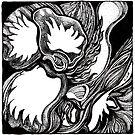 Amorphous, Ink Drawing by Danielle Scott
