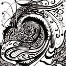 Labyrinth, Ink Drawing by Danielle Scott
