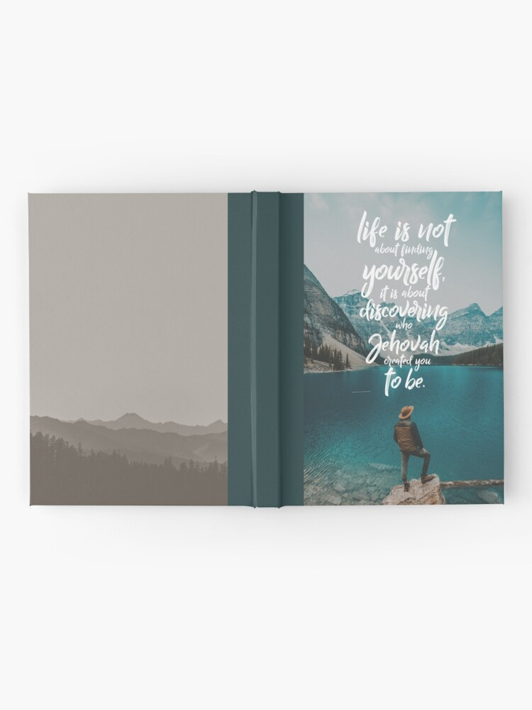 Alternate view of LIFE IS NOT ABOUT FINDING YOURSELF QUOTE Hardcover Journal
