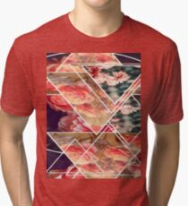 Flowers and Triangles Tri-blend T-Shirt