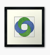 The twist Framed Print