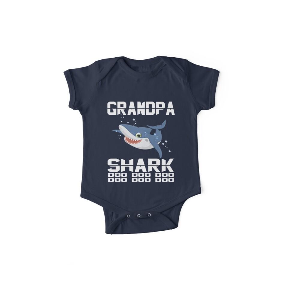 895963622 Mens grandpa Shark Doo Doo Doo T-Shirt | Matching Family Shirt ...