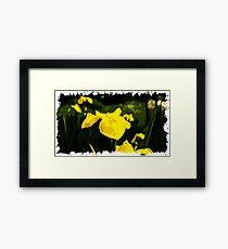 Flower Polygon Art Framed Print
