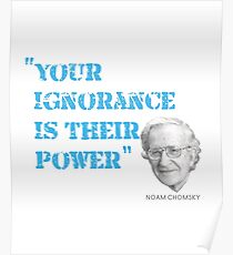 Noam Chomsky Quote Poster