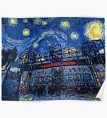 Starry Night in Manchester - www.art-customized.com Poster