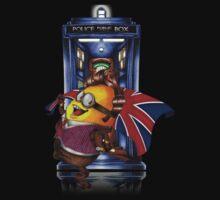 Doctor Cartoons Parody with england flag Baby Tee