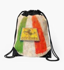 Ferrari Detail Drawstring Bag