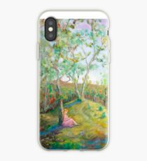 Girl in the Woods in the style of Renoir iPhone Case
