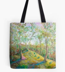 Girl in the Woods in the style of Renoir Tote Bag