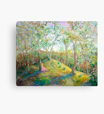 Girl in the Woods in the style of Renoir Canvas Print