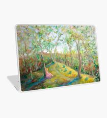 Girl in the Woods in the style of Renoir Laptop Skin
