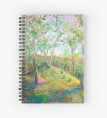 Girl in the Woods in the style of Renoir Spiral Notebook
