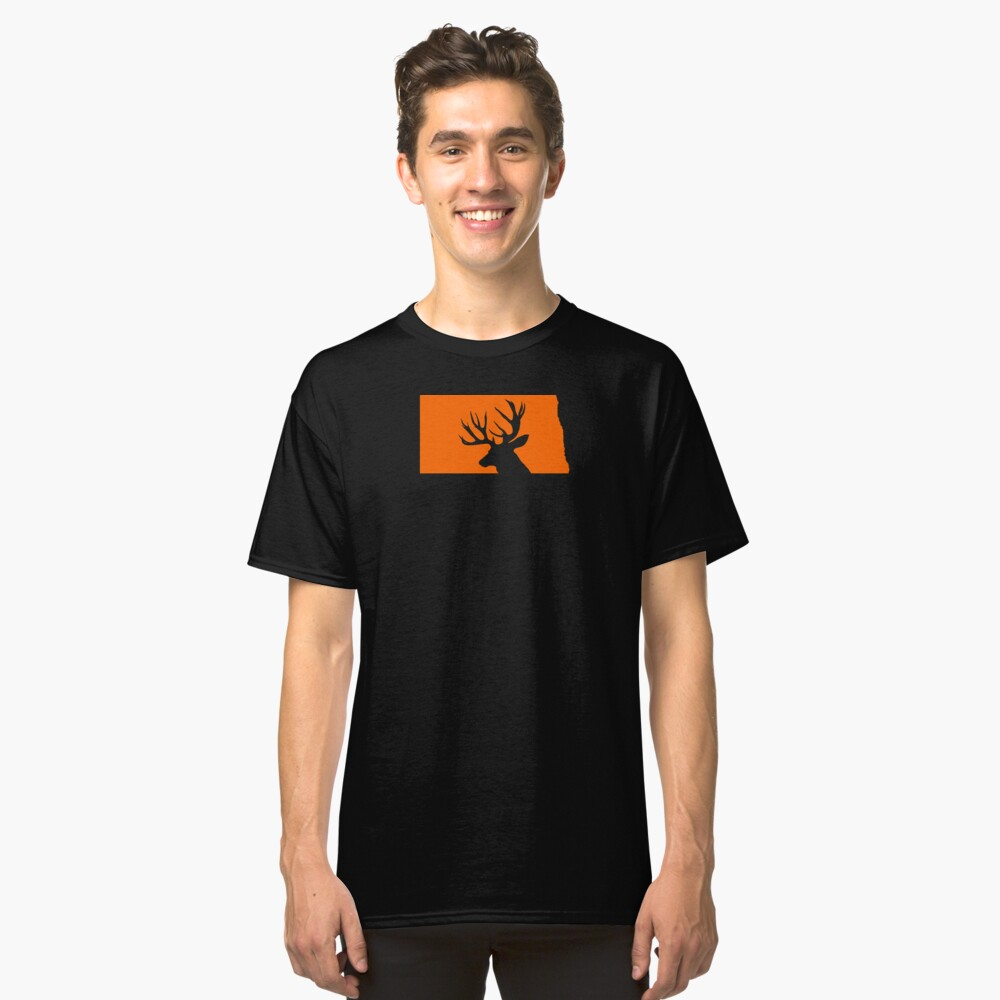 NORTH DAKOTA DEER Classic T-Shirt Front
