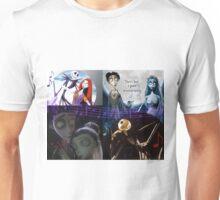 corpse bride, jack, nightmare before christmas Unisex T-Shirt