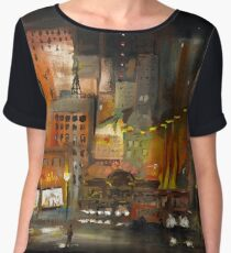 Alone in the City Chiffon Top