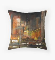 Alone in the City Throw Pillow