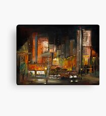 Alone in the City Canvas Print