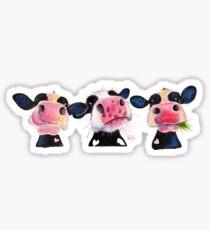CoW PRiNT 'THE NOSY COWS' von Shirley MacArthur Sticker