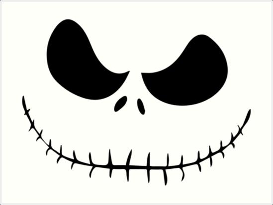 "Jack Skeleton Para Colorear: ""Jack Skellington Face"" Art Print By Crampsy"