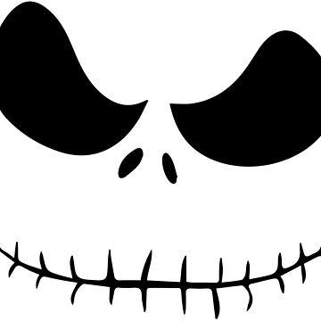 Jack Skellington Face by Crampsy