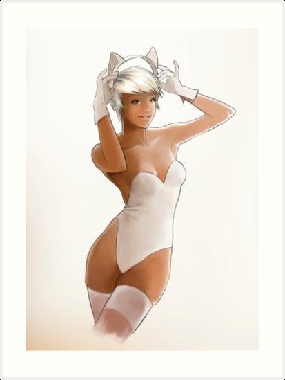 White Catgirl by Ben Fligans