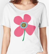 Pink Daisy Pop Women's Relaxed Fit T-Shirt
