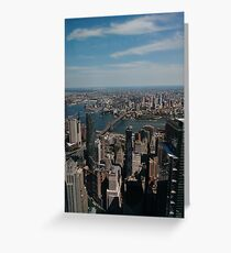 Manhattan, #Manhattan, New York, #NewYork, NYC, #NYC, New York City, #NewYorkCity Greeting Card