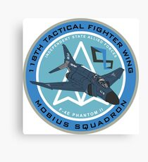 Mobius Squadron F-4A Phantom Badge Canvas Print