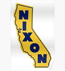 1972 California Likes Nixon Poster