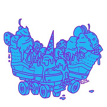 Ice Cream Trux (blue version) by DixxieMae