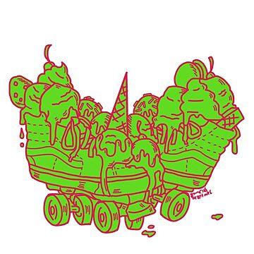 Ice Cream Trux (green version) by DixxieMae