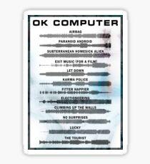 Radiohead - OK Computer - Sound Wave Sticker
