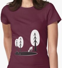 I always want to be in the woods Women's Fitted T-Shirt