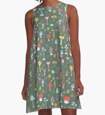 Mushrooms A-Line Dress