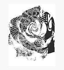 Negative Space Rose Photographic Print