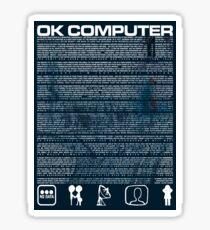 Radiohead OK Computer lyrics Sticker