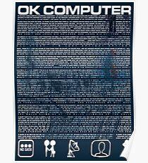Radiohead Lyrics Posters Redbubble