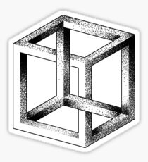 Impossible Cube (Escher Cube) Sticker