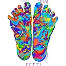Free Your Feet - Rainbow by Jay Taylor