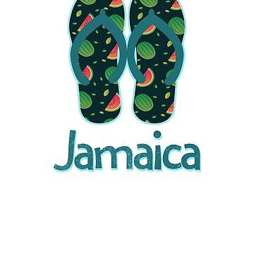 Jamaica Vintage Retro Watermelon by TrevelyanPrints
