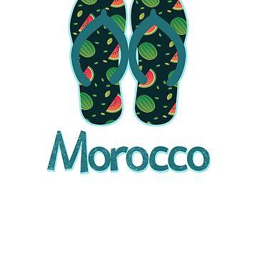 Morocco Vintage Retro Watermelon by TrevelyanPrints