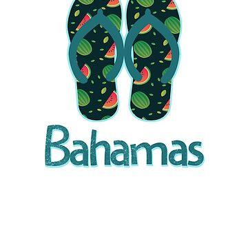 Bahamas Vintage Retro Watermelon by TrevelyanPrints