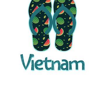 Vietnam Vintage Retro Watermelon by TrevelyanPrints