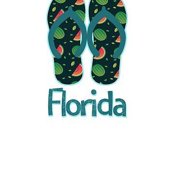 Florida Vintage Retro Watermelon by TrevelyanPrints