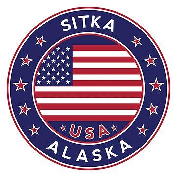 Sitka, Sitka Alaska, Sitka sticker, Sitka t shirt by Alma-Studio